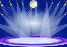Luzes do estágio Imagens de Stock
