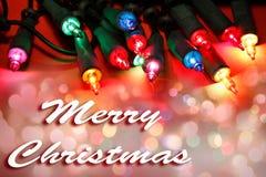 Luzes do Feliz Natal Imagem de Stock Royalty Free