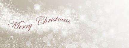 Luzes do Feliz Natal Imagens de Stock