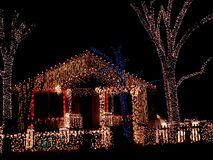 Luzes do feriado imagem de stock