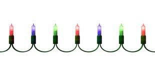 Luzes do feriado no branco Imagens de Stock