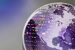 Luzes do globo da terra Imagem de Stock