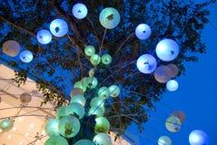 Luzes do jardim Fotografia de Stock