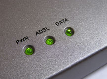 Luzes do modem Imagem de Stock Royalty Free
