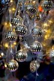Luzes do Natal e do partido de algum tipo Fotografia de Stock