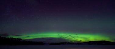 Luzes do norte coloridas (borealis da Aurora) Fotos de Stock Royalty Free
