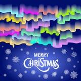 Luzes do norte Feliz Natal abstrato do fundo do vetor Imagem de Stock Royalty Free