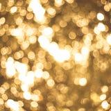 Luzes do ouro Fotos de Stock