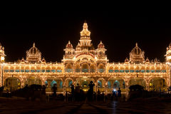 Luzes do palácio de Mysore Foto de Stock