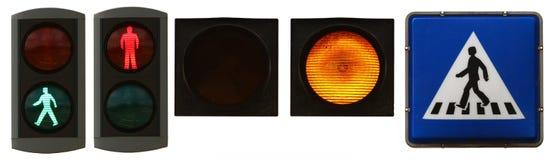 Luzes do pedestre Imagens de Stock Royalty Free
