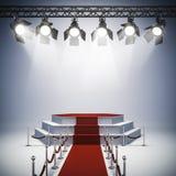 luzes do ponto 3d e instalação da fase Fotografia de Stock Royalty Free
