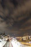 Luzes do porto Foto de Stock Royalty Free
