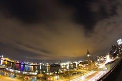 Luzes do porto Fotografia de Stock