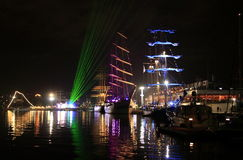 Luzes do porto da noite Imagens de Stock
