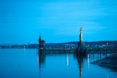 Luzes do porto no crepúsculo Foto de Stock