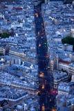Luzes do Saint Michel do bulevar Foto de Stock