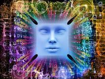 Luzes do ser humano super AI Fotos de Stock