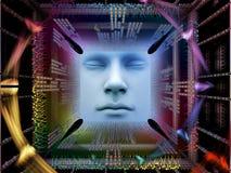 Luzes do ser humano super AI Fotografia de Stock Royalty Free