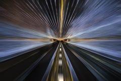 Luzes do túnel foto de stock