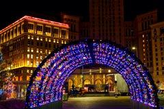 Luzes do túnel do feriado Fotografia de Stock