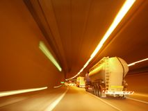 Luzes do tráfego em um túnel Imagens de Stock Royalty Free