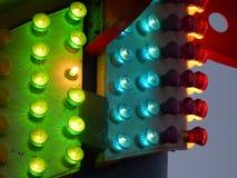 Luzes do vermelho, do verde e do azul Foto de Stock Royalty Free