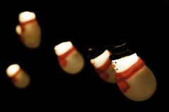 Luzes dos bonecos de neve Fotos de Stock