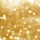 Luzes douradas Imagem de Stock Royalty Free