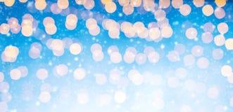 Luzes douradas abstratas borradas do ponto Imagem de Stock Royalty Free