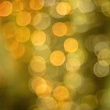 Luzes douradas do brilho Fotografia de Stock