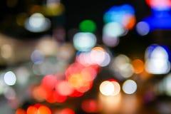 Luzes e bokeh borrados bonitos na vida noturna imagens de stock royalty free
