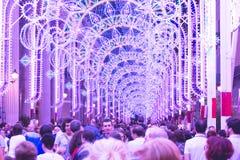 Luzes e cores da mostra das iluminações
