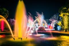 Luzes e decorações da estação do Natal em jardins do stowe de daniel Fotografia de Stock Royalty Free