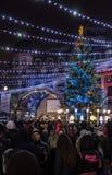 Luzes e decorações de Natal Fotografia de Stock Royalty Free