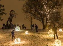Luzes e decorações de Natal Foto de Stock Royalty Free