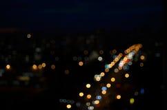 Luzes e estrada Foto de Stock