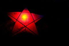 Luzes e estrelas Twinkly do Natal Fotos de Stock Royalty Free
