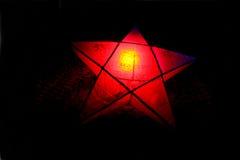 Luzes e estrelas Twinkly do Natal Fotografia de Stock Royalty Free