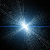 Luzes e estrelas de brilho azuis Fotos de Stock