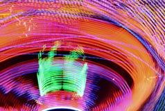 Luzes e movimentos do carrossel em Grantham Lent Fair meados de 2019, Reino Unido fotos de stock royalty free