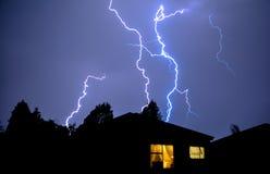 Luzes elétricas & relâmpago Foto de Stock