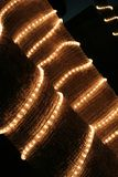 Luzes em palmtrees Foto de Stock Royalty Free