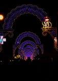 Luzes em Peschici - Itália Foto de Stock