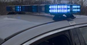 Luzes em um carro policial marcado fotografia de stock royalty free