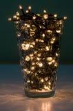Luzes em um vidro Imagens de Stock Royalty Free