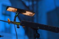 Luzes especiais para o livro de notas musicais Imagens de Stock Royalty Free