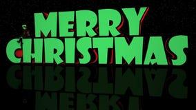 Luzes & fase do Feliz Natal com o duende 3D ilustração stock