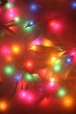 Luzes festivas fotografia de stock