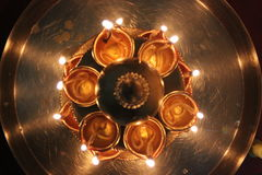 Luzes festivas Fotografia de Stock Royalty Free