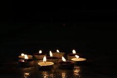 Luzes festivas da vela Imagem de Stock Royalty Free